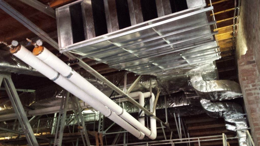 new-piping-and-ducting-in-roof-space